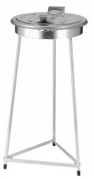 3-Bein Müllsackständer aus Stahl, silber