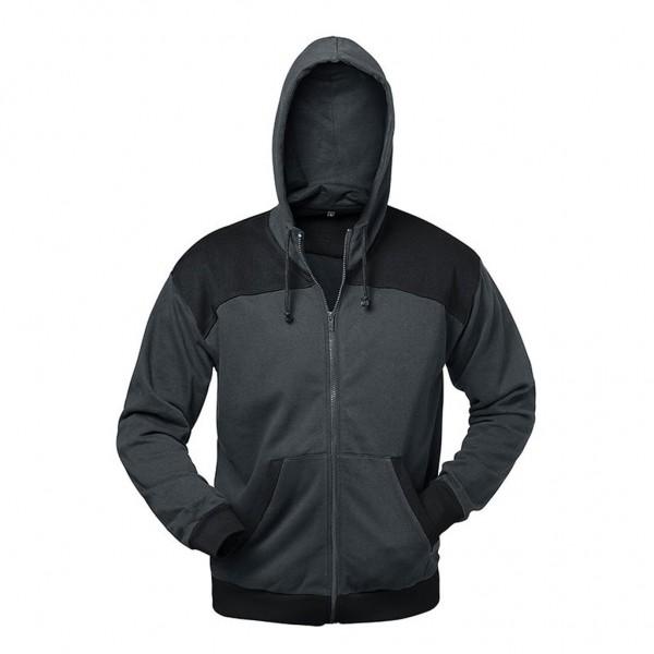 Sweat-Shirt Jacke MAILAND gau/schwarz