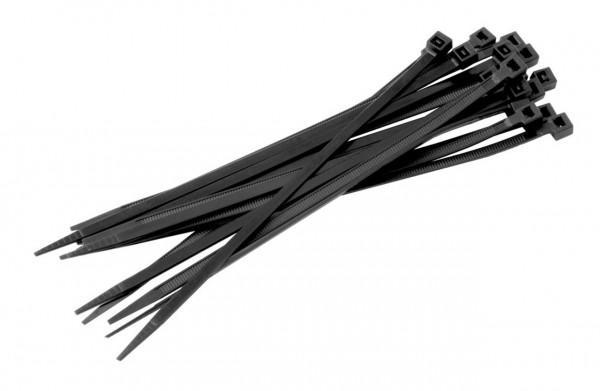 Schwarze Kabelbinder aus Nylon