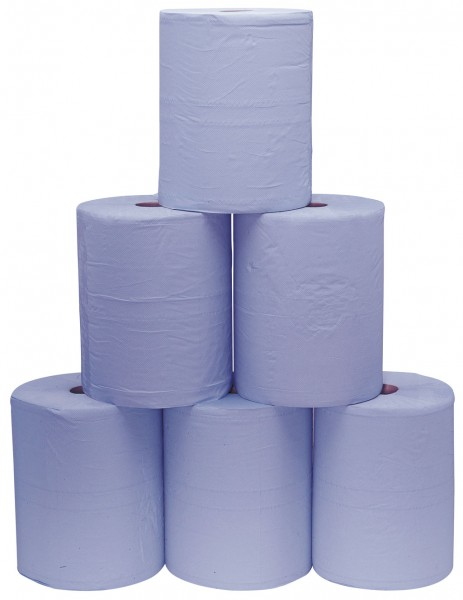 3- lagiges blaues Putzpapier 8610