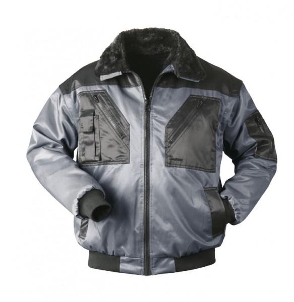 Pilotenjacke schwarz grau 23621