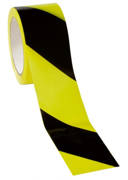 Warn- Klebeband 60 mm x 66 m, gelb/schwa