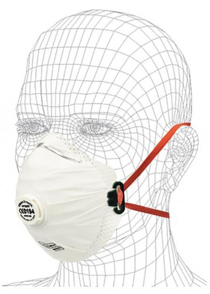 Feinstaubmaske FFP 2 mit Ventil 7803