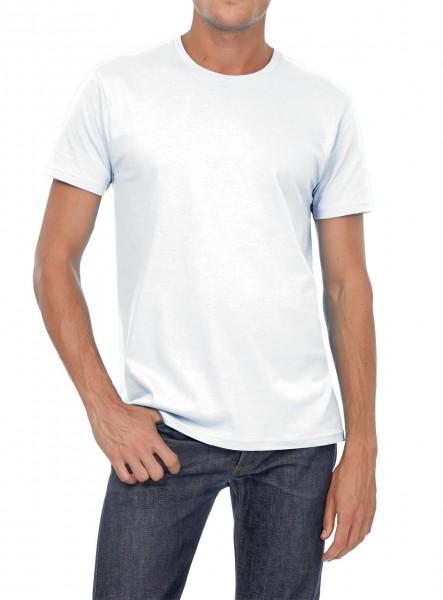 Herren T-Shirt von B&C 145 g/m², weiß