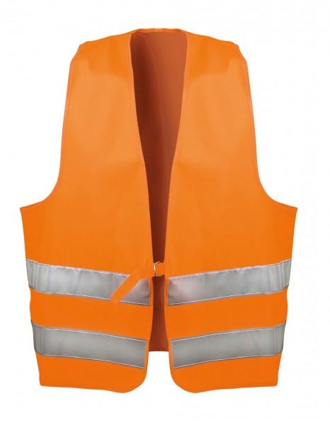 Textil Warnweste mit Doppelringverschlus