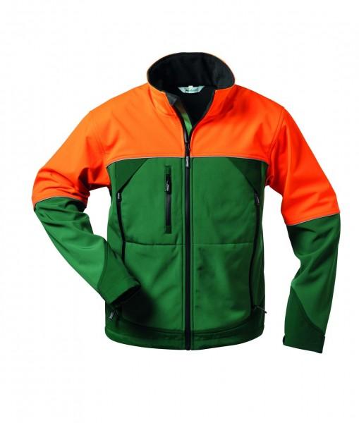 Softshell Jacke SANDDORN von elysee, grün orange