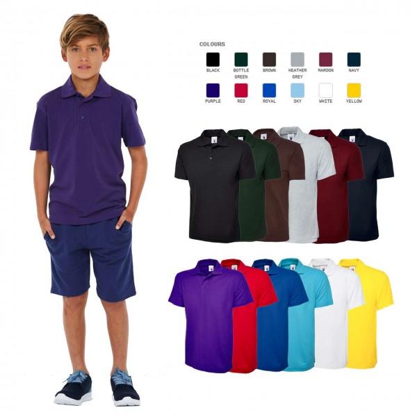 Kinder Poloshirts in 12 Farben