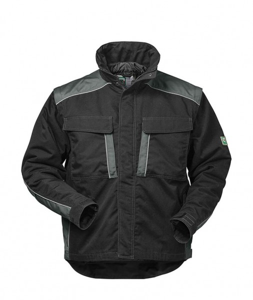 2 in 1 Canvas-Outdoorjacke BASEL schwarz