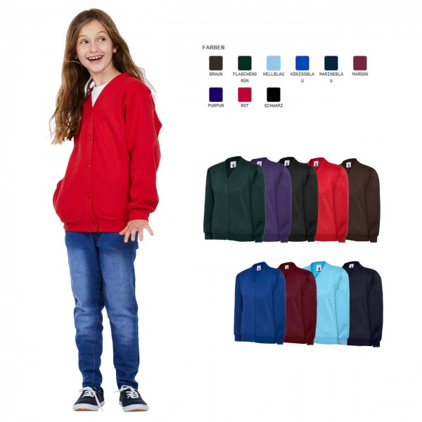 Kinder Cardigan in 9 Farben