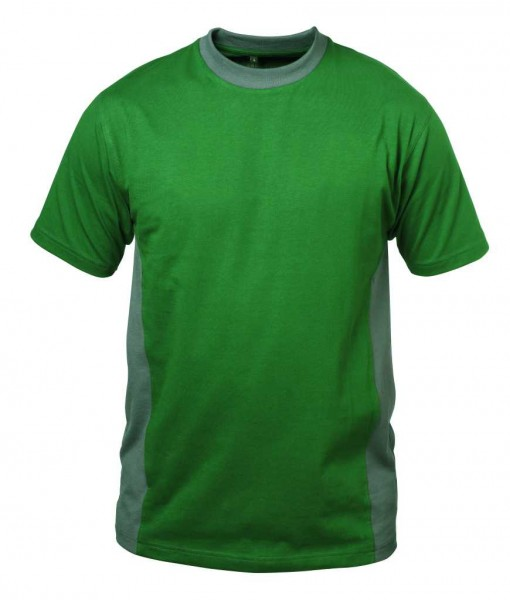Rundhals- T-Shirt MADRID grün/grau
