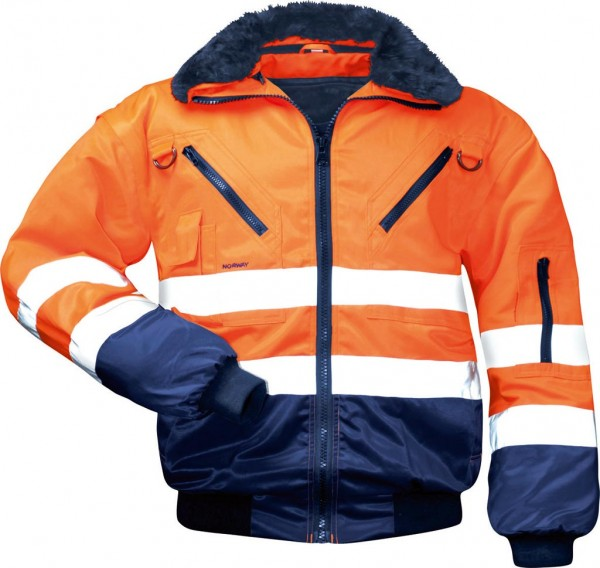 Norway- Pilotenjacke 4 in 1 orange 23649