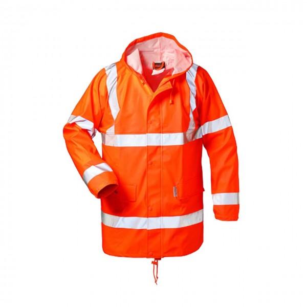 PU-Stretch Regenjacke FINN, orange