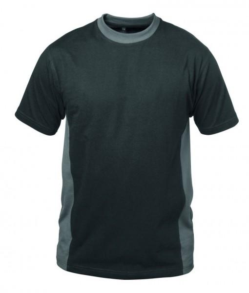Rundhals- T-Shirt MADRID schwarz/grau