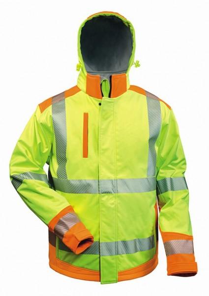 Warnschutz- Softshell-Jacke gelb-orange
