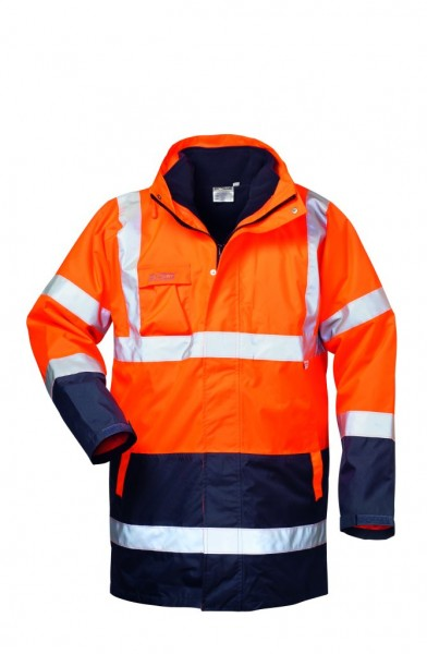 4 in 1 Warnschutz- Parka TRAVIS, orange