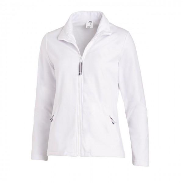 Damen- Sweatjacke 08/1059  weiß Leiber