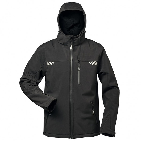 Herren Winter Softshell Jacke mit Fell