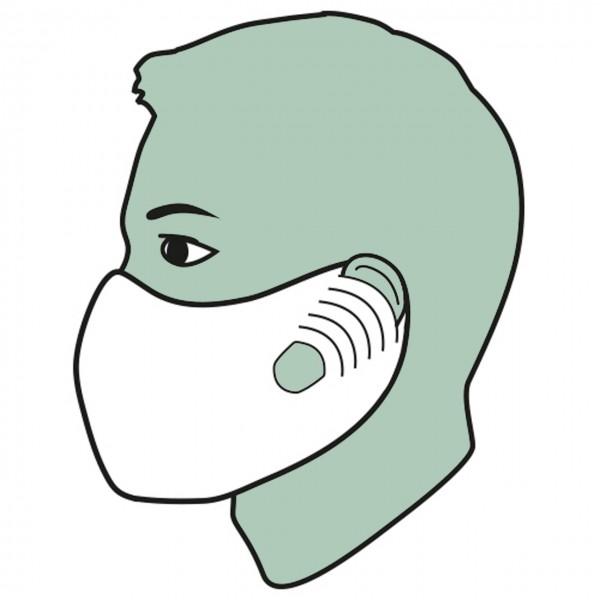 Mund- und Nasenmaske aus Hygiene-Vlies