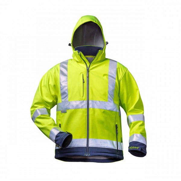 Softshell Warnschutz- Jacke gelb 22732