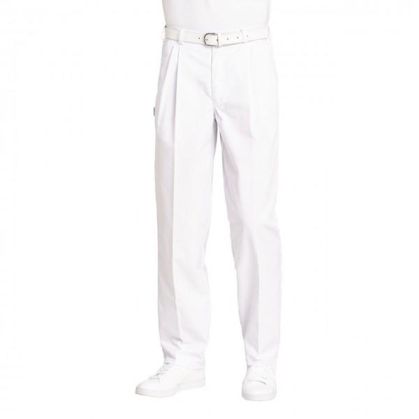 Bundfaltenhose m. Gummizug weiß 12/8230