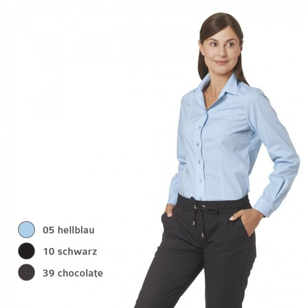 Service- Damenblusen langarm mit Stretch