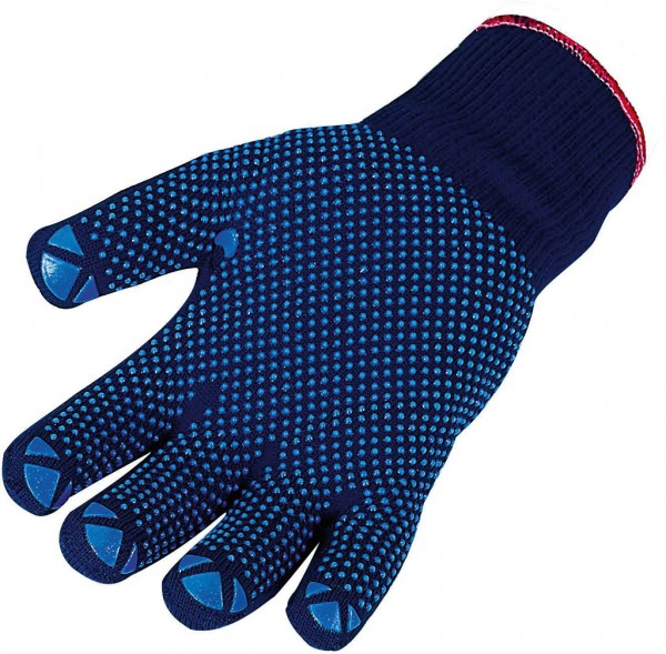 Feinstrickhandschuh blaue Punkte 3688