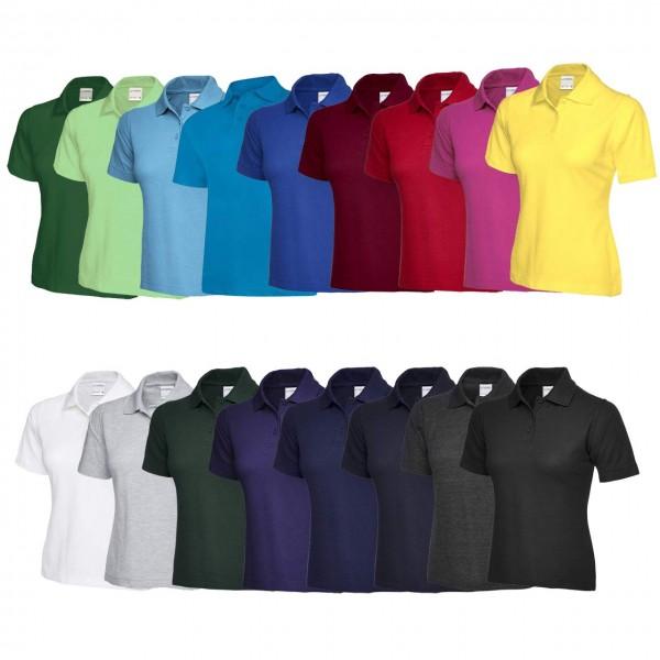 Uneek Damen Poloshirts aus 100% Baumwoll