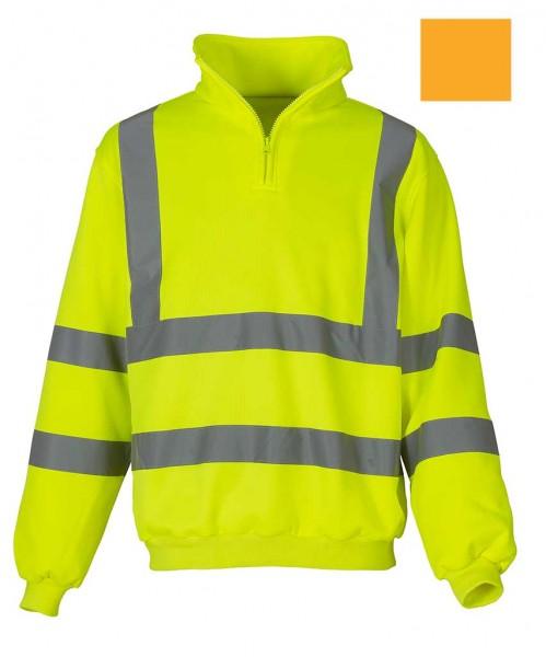 Warnschutz Hi Vis 1/4 Zip Sweatshirt, ge