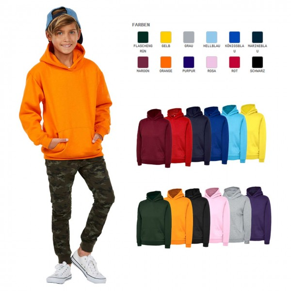 Kinder Hooded Sweatshirt in 12 Farben