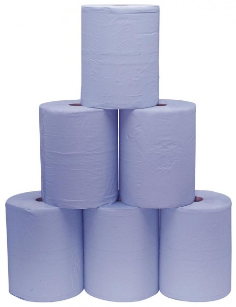 2- lagiges blaues Putzpapier 500 Blatt