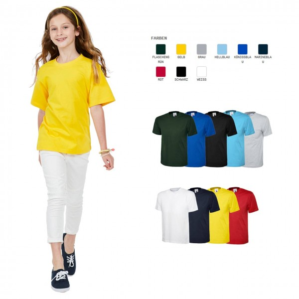Kinder T-Shirt in 12 Farben ideal für Dr