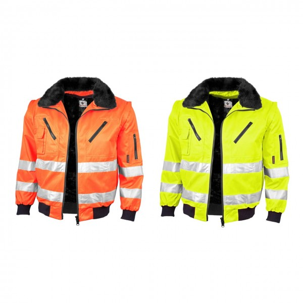 Qualitex 3 in 1 Warnschutz- Pilotenjacke