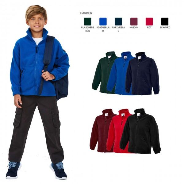 Kinder Micro Fleece-Jacke in 6 Farben