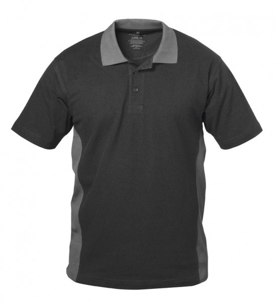 Polo-Arbeits- Shirt SEVILLA schwarz/grau