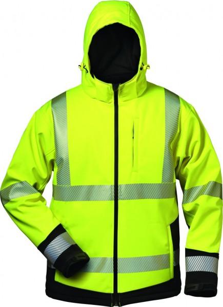 Warnschutz-Softshell Jacke mit Kapuze
