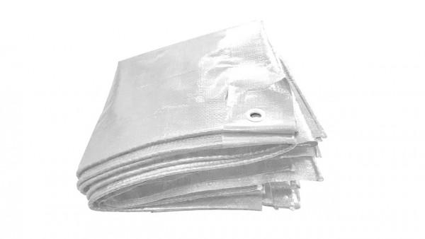 250g/m² PE-Gewebeplane in weiß, 10,0 x 1