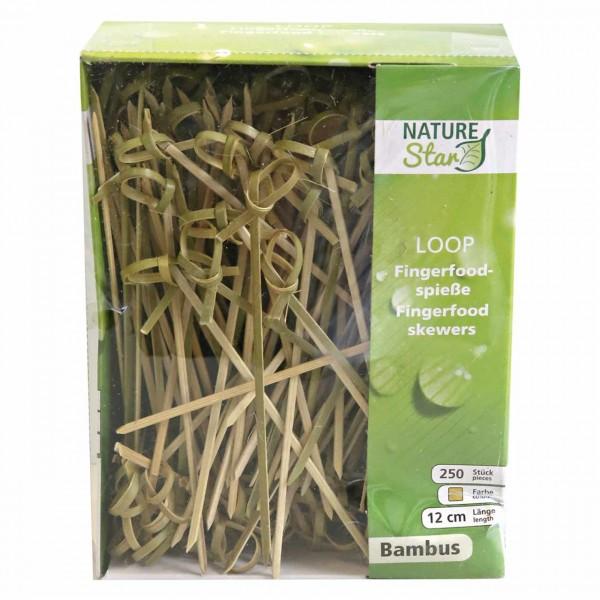 "Bambus Fingerfoodspieß""LOOP"", NATUR Star"
