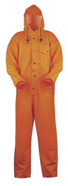 Regenoverall aus PU orange 26604