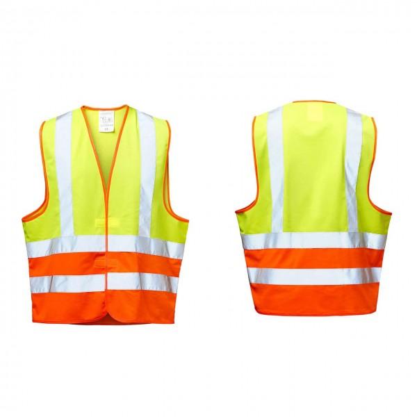 Warnschutzwesten gelb/orange