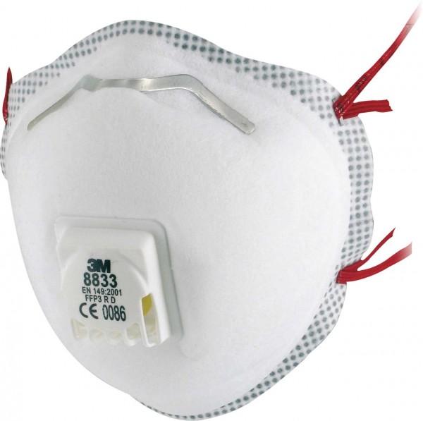 FFP3 R D Atemschutzmaske 8833 von 3M mit