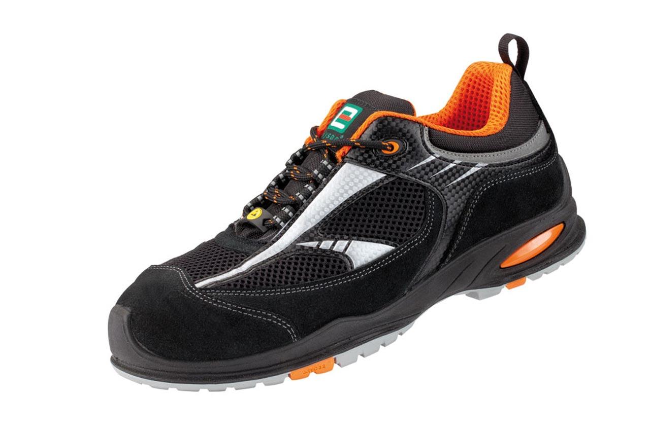 Nardo Bas Chaussures S1, Noir / Orange, Elysee - En Iso 20345 S1 Src Gr -. 47-34503