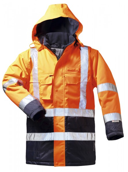 Funsport S Warnschutzparka 2in1 Alexander orange-blau Gr