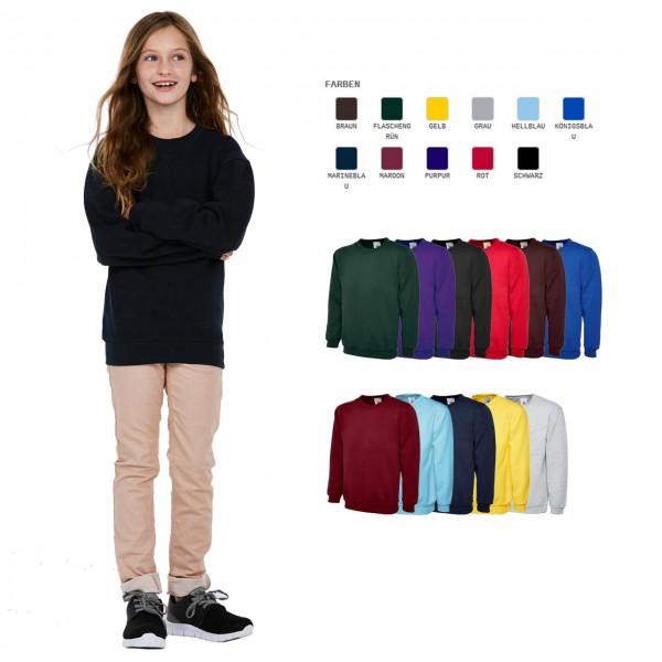 Kinder Sweatshirt in 11 Farben ideal für
