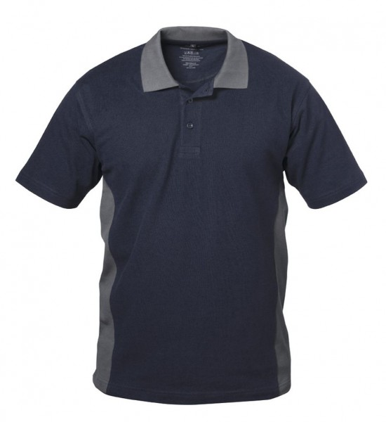 Polo-Arbeits- Shirt SEVILLA marine/grau