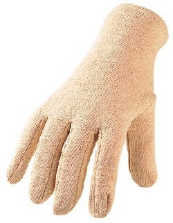 Baumwoll Jersey- Handschuhe rohweiß BJ