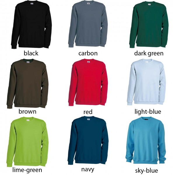 Sweatshirts in 300 g/m² Top- Qualität