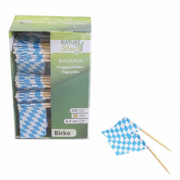Holz-Flaggenpicker Bavaria NATURE Star