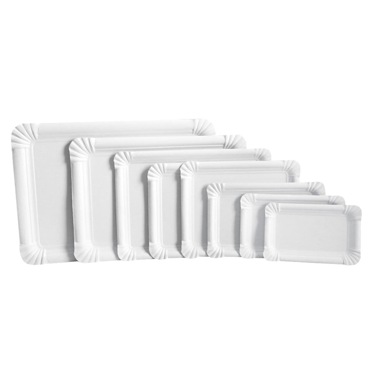 250 Pappteller 23x33 cm Kuchenteller weiß