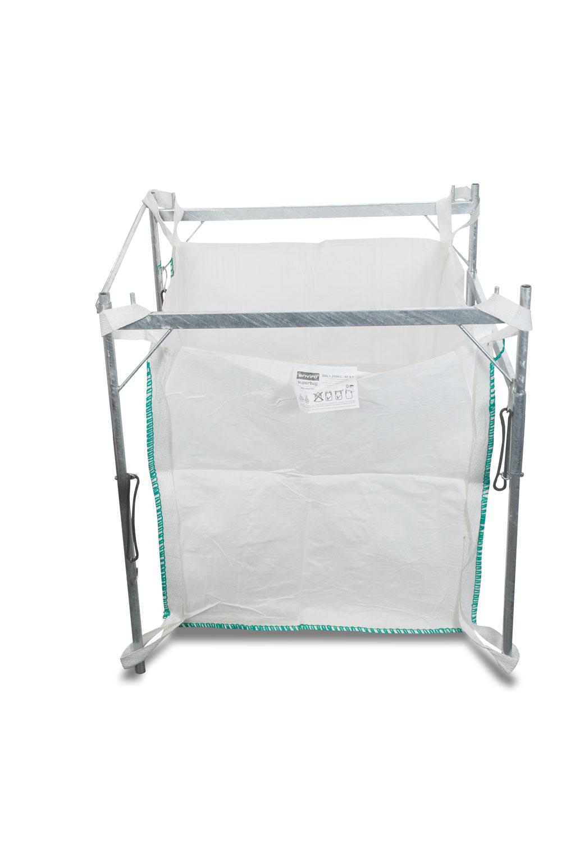 big bag gestell einf llhilfe verzinkt f r 90x90x110 cm bags geeignet big bags entsorgung. Black Bedroom Furniture Sets. Home Design Ideas