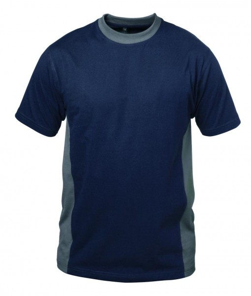 Rundhals- T-Shirt MADRID marine/grau
